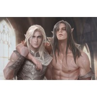 Adonis and Vale Art Print